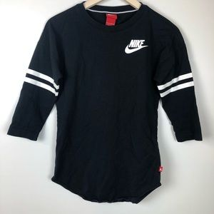 Nike Athletic Logo Spell Out T-Shirt Top Size XS